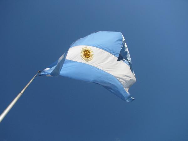 флаг Аргентины, площадь Сан-Марртин в Буэнос-Айресе
