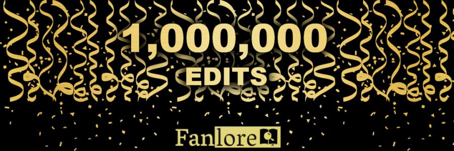 Fanlore: 1 Million Edits