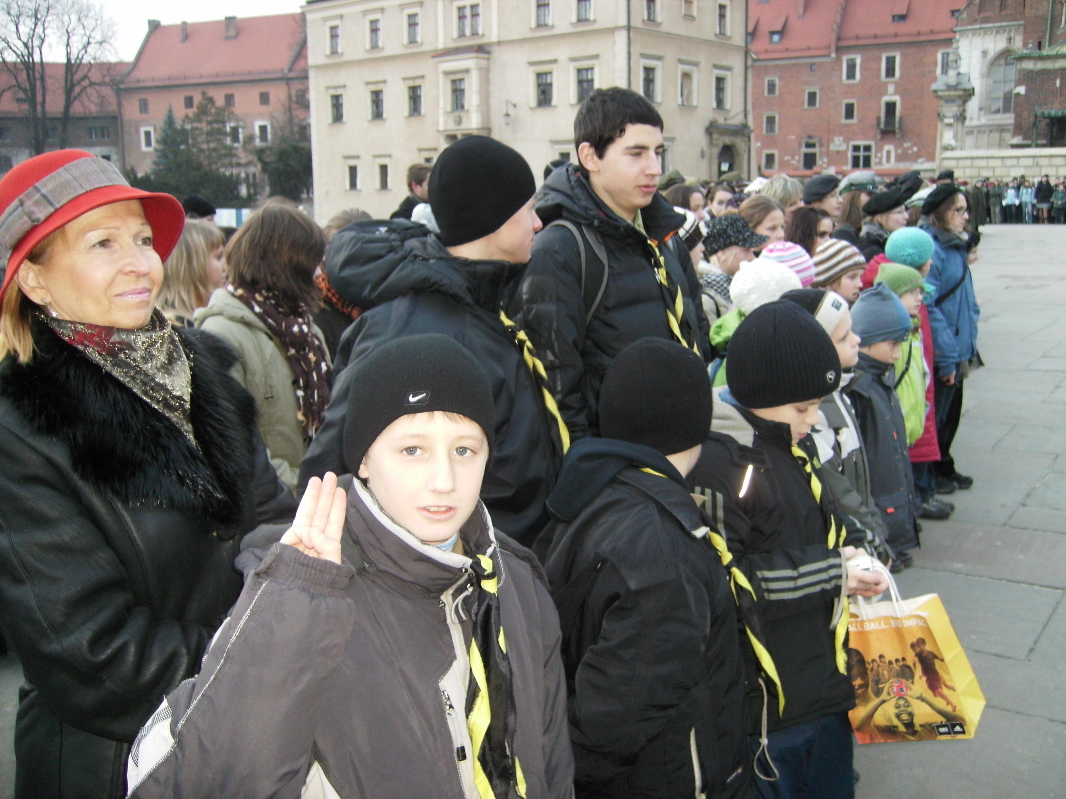 Вифлеємське Світло Миру. На лінійці в Кракові-3