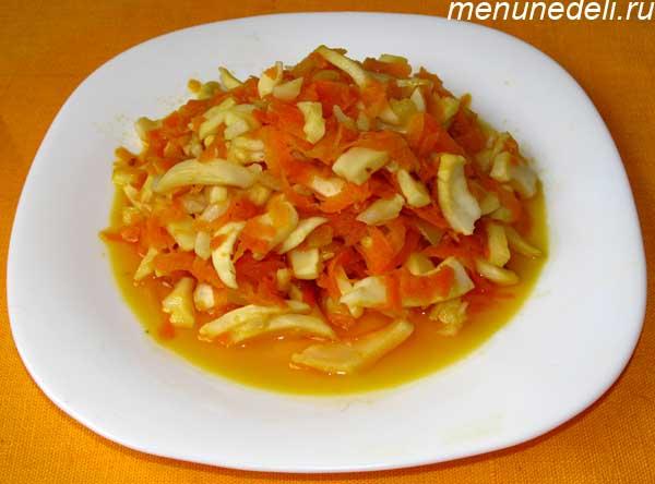 Жареные кальмары с луком и морковью рецепт пошагово