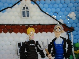 American Gothic - in balloons