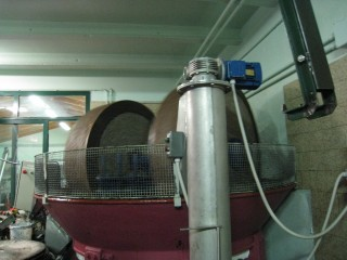 First pressing of olives at a frantoio