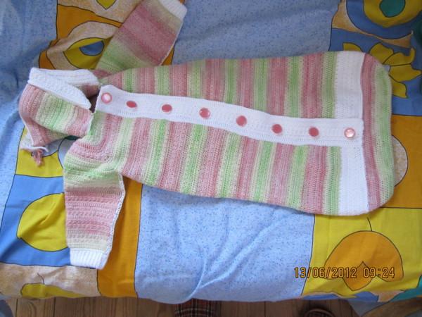Спальный мешок для новорожденных связать спицами