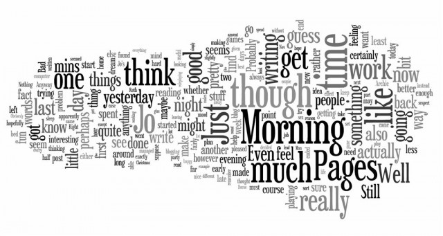 Wordle: 100 Morning Pages