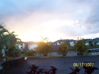 View from Princeville condo - front door