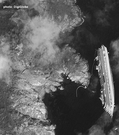 The Costa Concordia wrecked