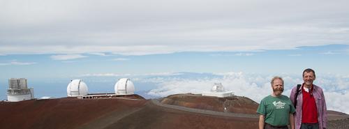 Geoff and Galen on Mauna Kea