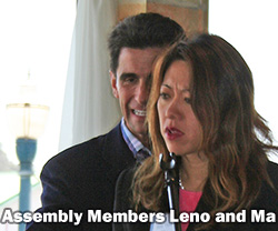 Assembly Members Mark Leno and Fiona Ma