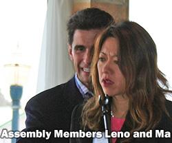 Assembly Members Mark Leno and Fiona Ma