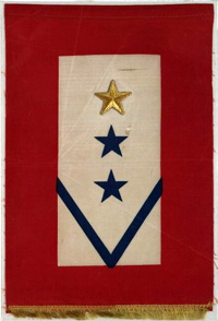 Service Banner with Gold Star and 2 Blue Stars -- from the Library of Congress