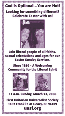 Unitarian Universalist ad the the BAR