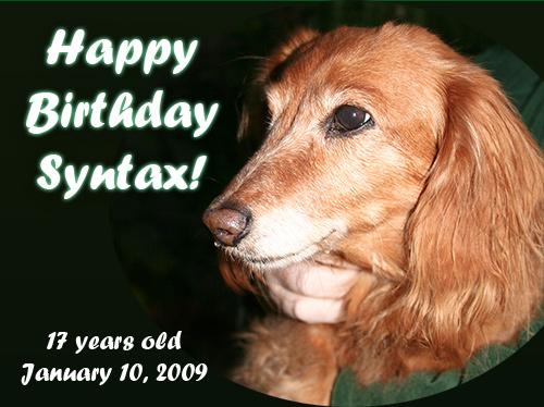 Syntax Workman Kulik Dog, aka: Lilliput's Red Hot Syntax, at 17