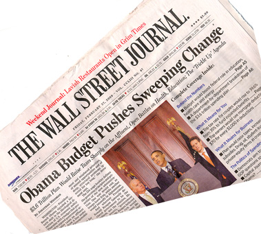 Wall Street Journal sounds the alarm on Obama&quo;s budget