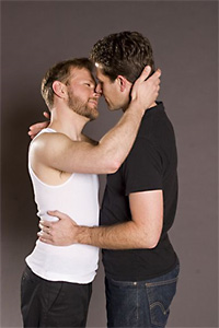 Ryan Tasker and Brendan Godfrey in Two On A Party by Tennessee Williams; part of Three On A Party. Photography by Kent Taylor.