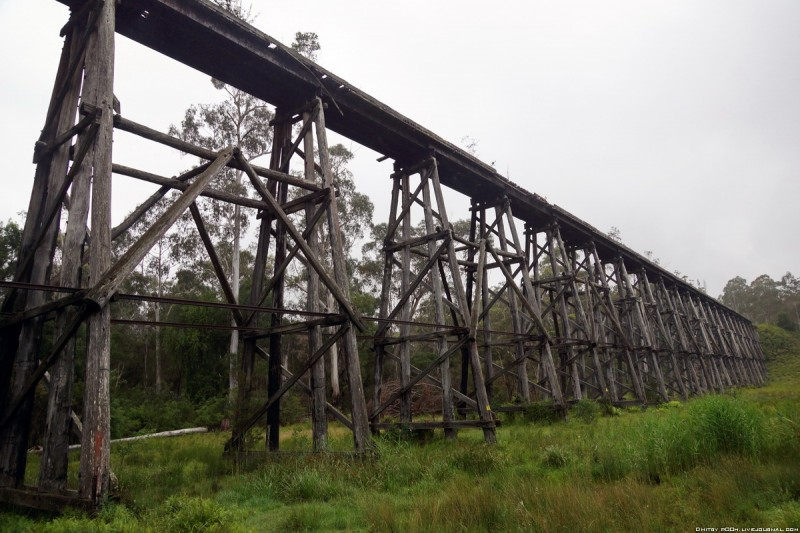 Австралия, заброшенный мост Stony Creek Trestle Bridge.