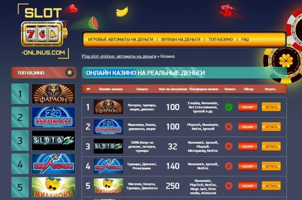 10 лучших онлайн казино