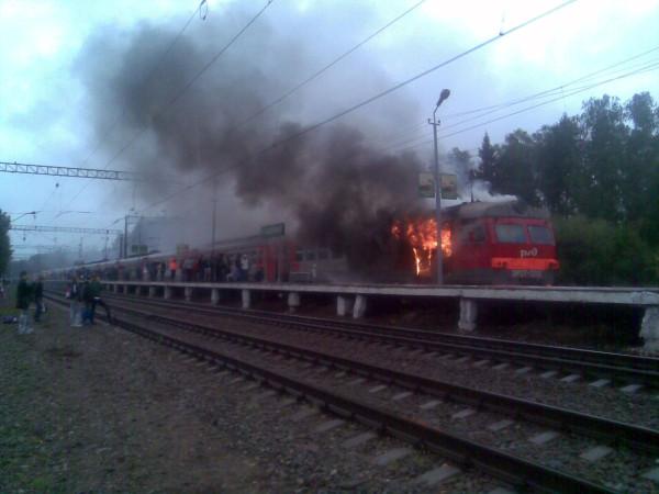 Платформа Холщевики, пожар