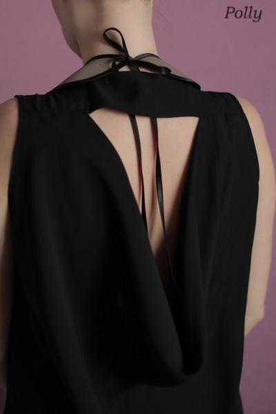 воротничок Чаплин спина платья