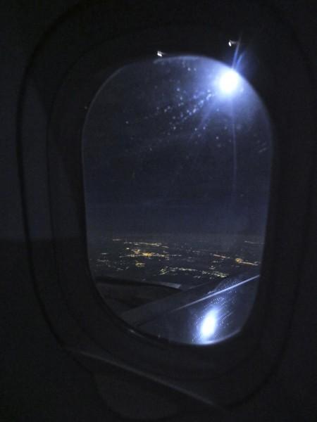 Ночь. Небо. Самолёт.