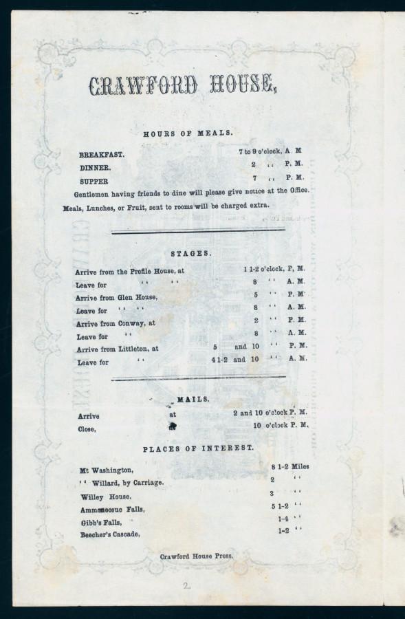 Меню 1866 - 2