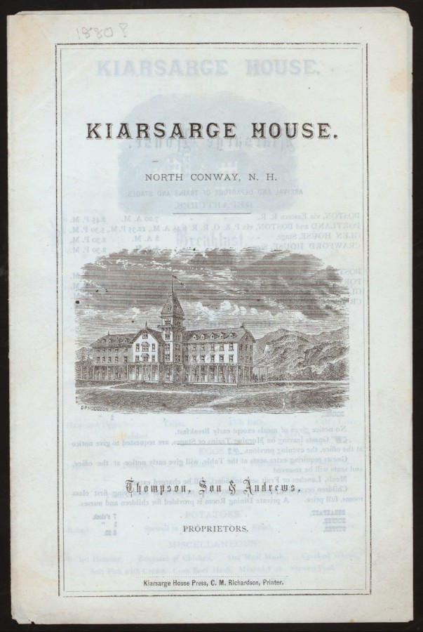 Меню 1873 - 1