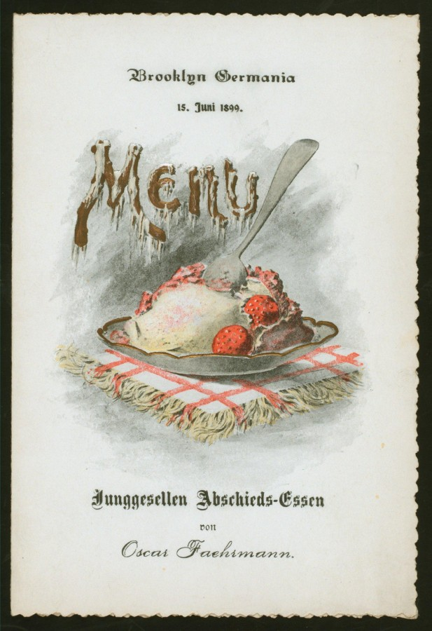 Меню 1899 - 1