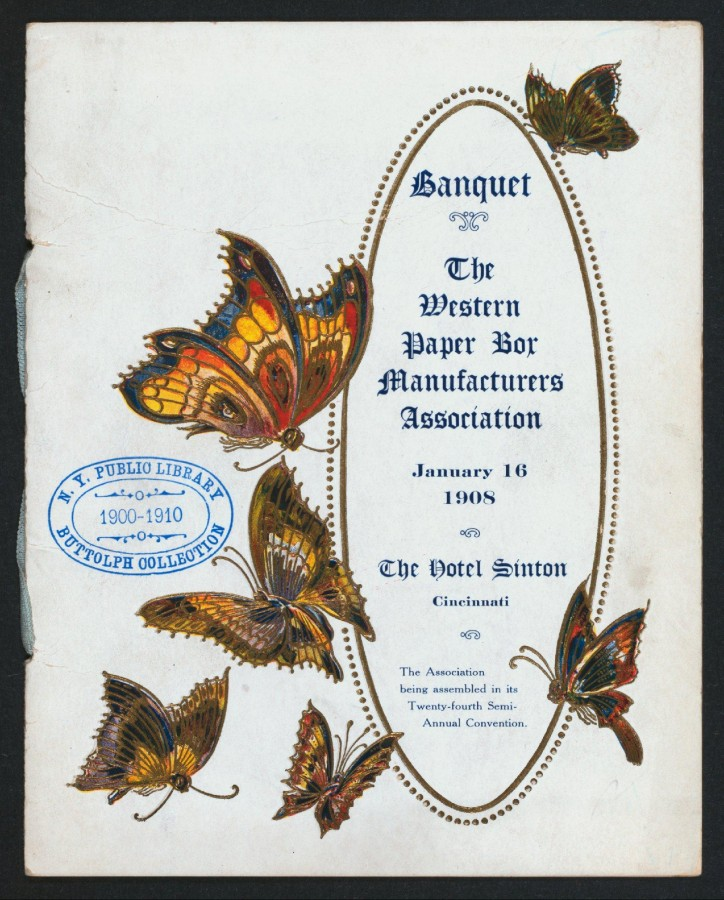 Меню 1908 - 1