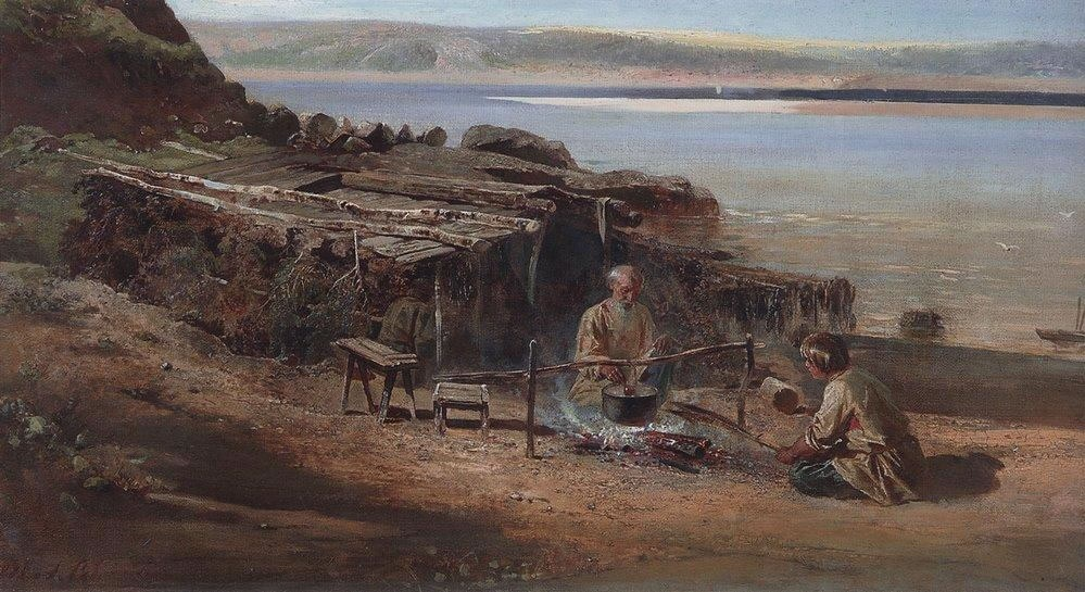 Саврасов А.К. Рыбаки на Волге. 1872.