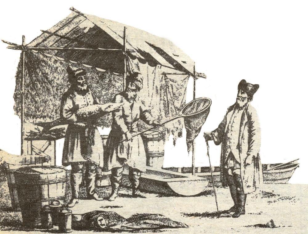 Иоганн-Готлиб Георги. Волжские рыбаки.