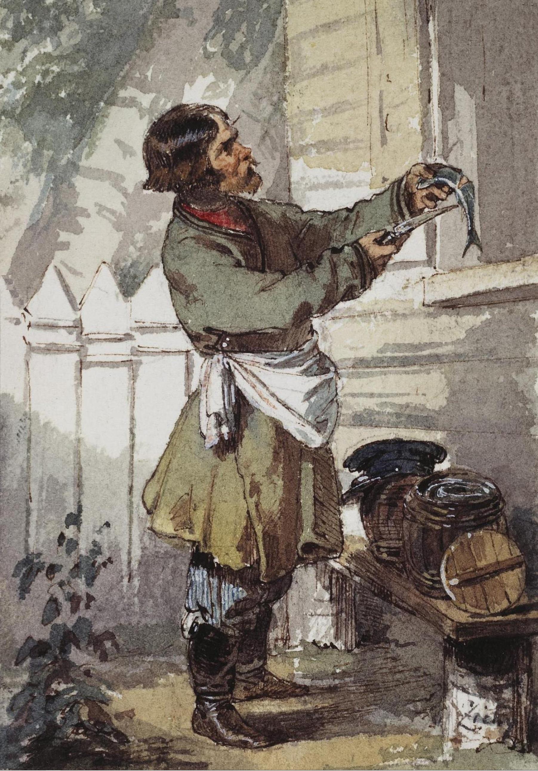 Зичи М.А. Продавец селедки (1850-е)