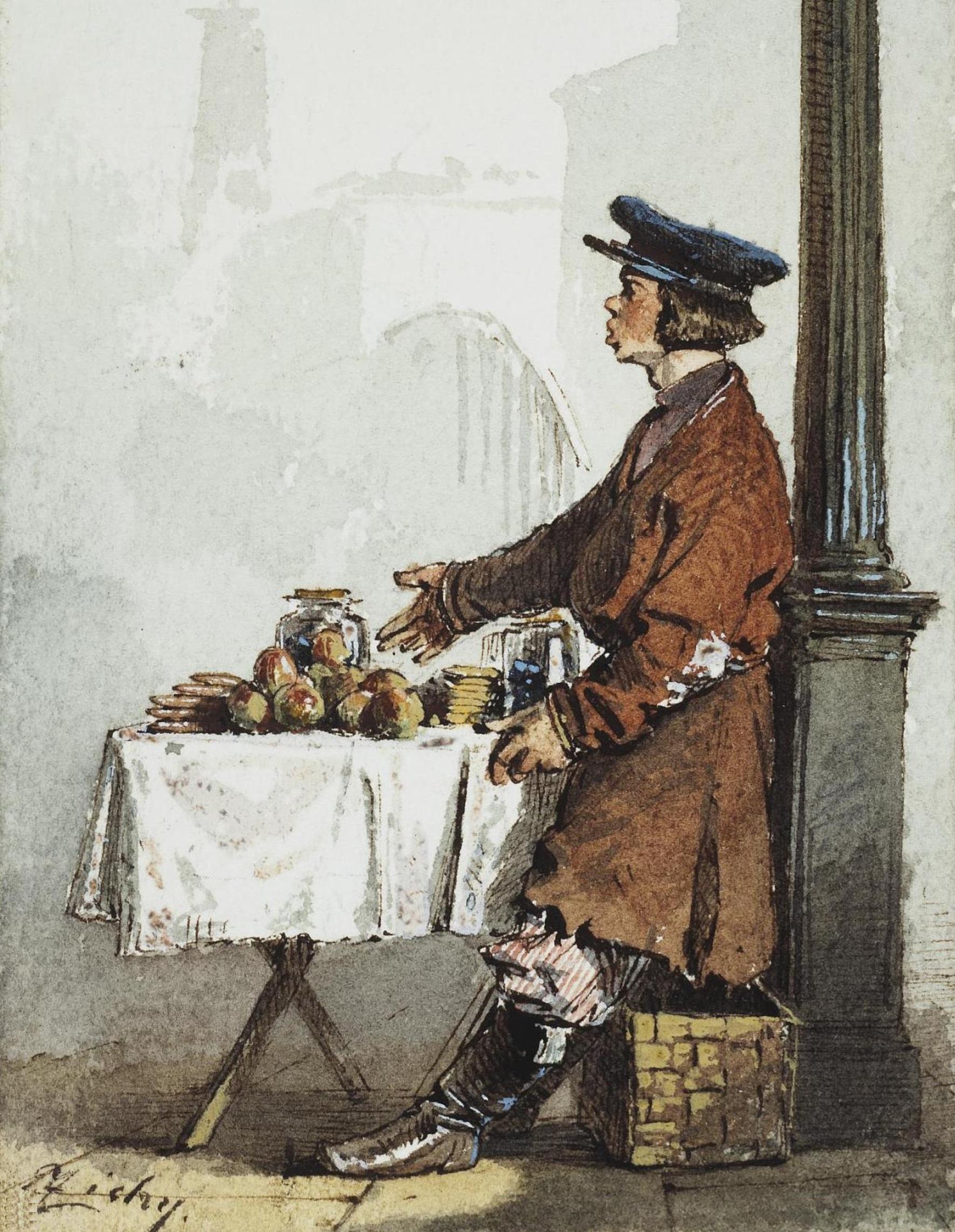 Зичи М.А. Продавец яблок и пряников (1850-е)