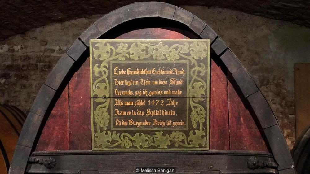 В погребе хранится, как считают, самое старое в мире бочковое белое вино