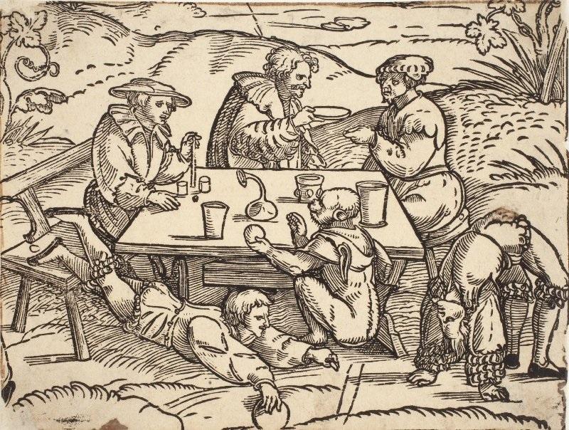 Эрхард Шён «Фрагмент гравюры «Четыре свойства вина» Вторая четверть XVI века