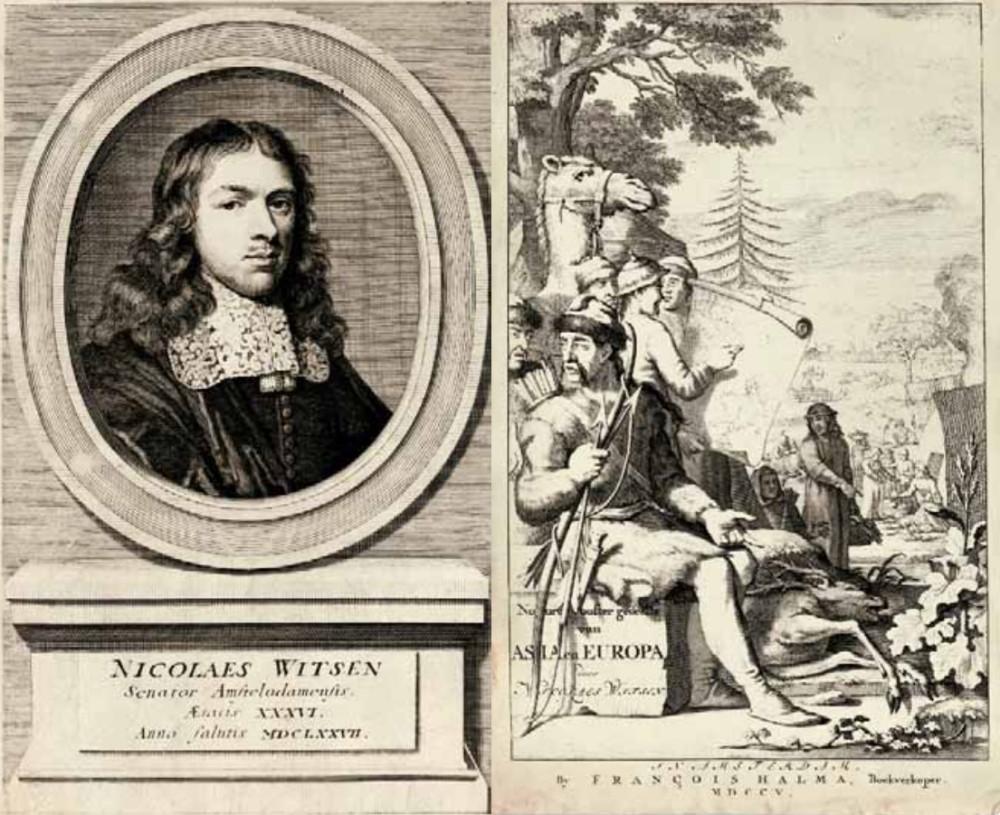 Николаас Витсен (1641-1717) и иллюстрация из его книги