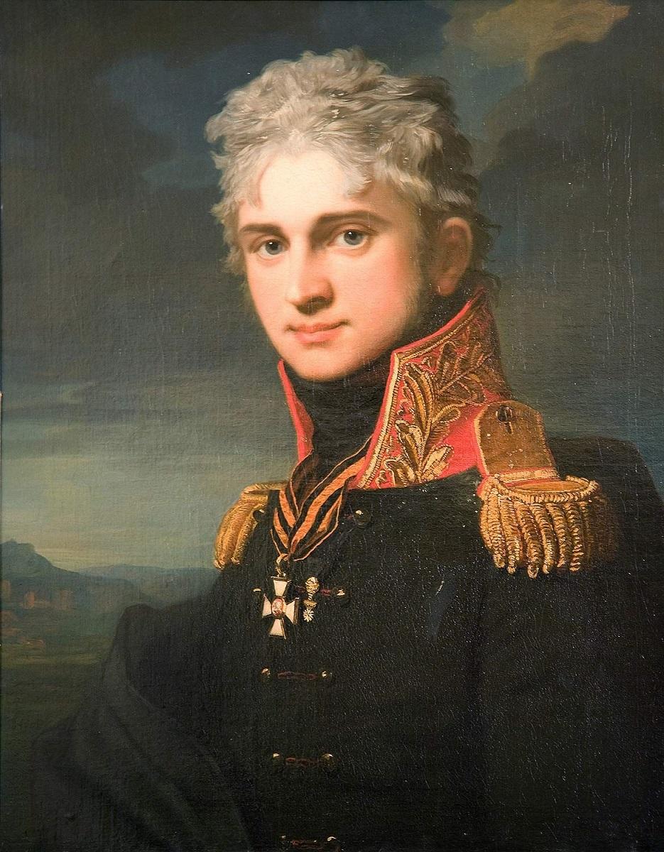 Жан-Лоран Монье. Портрет Павла Строганова (1808)