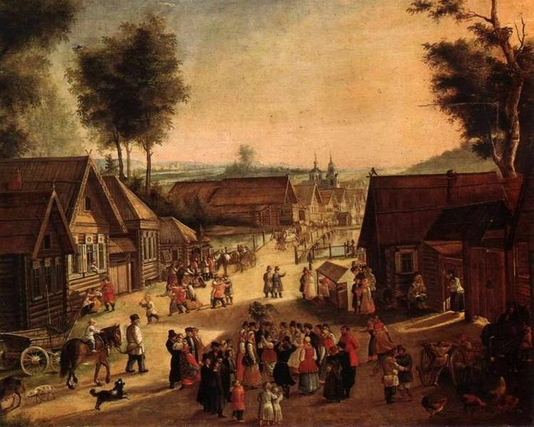 Троицын день в Красном селе близ Москвы. Неизвестный художник (1840-е годы)