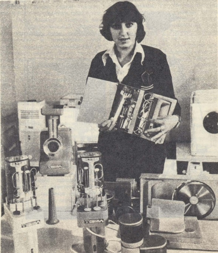 """На польском выставочном стенде. Фото из журнала """"Огонек"""" (№ 30 за 1979 год)"""