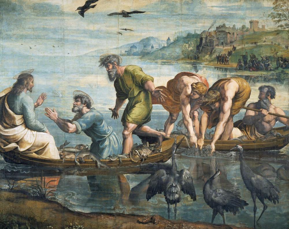 Рафаэль. Чудесный улов (1515-16)