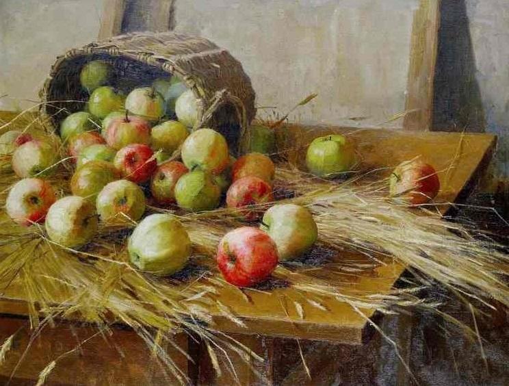 Сычков Ф.В. Натюрморт с яблоками (1909)