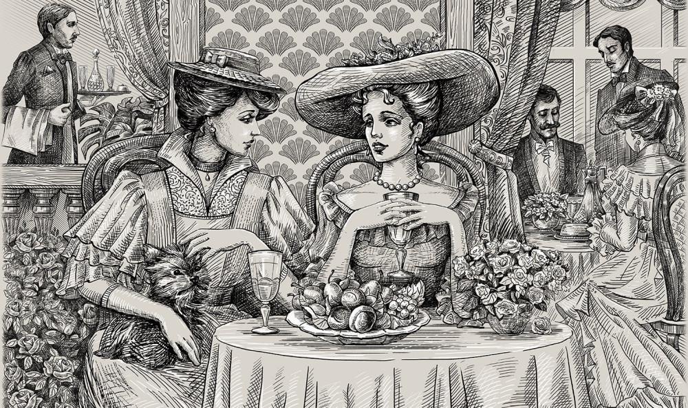 Как русских писателей едой заманивали