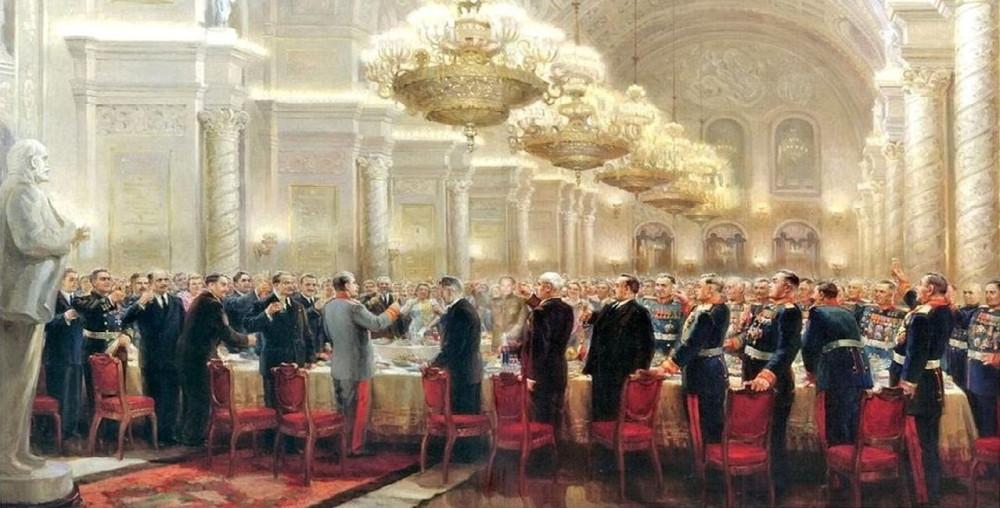 """Картина Михаила Хмелько """"За великий русский народ"""". 1947 год"""