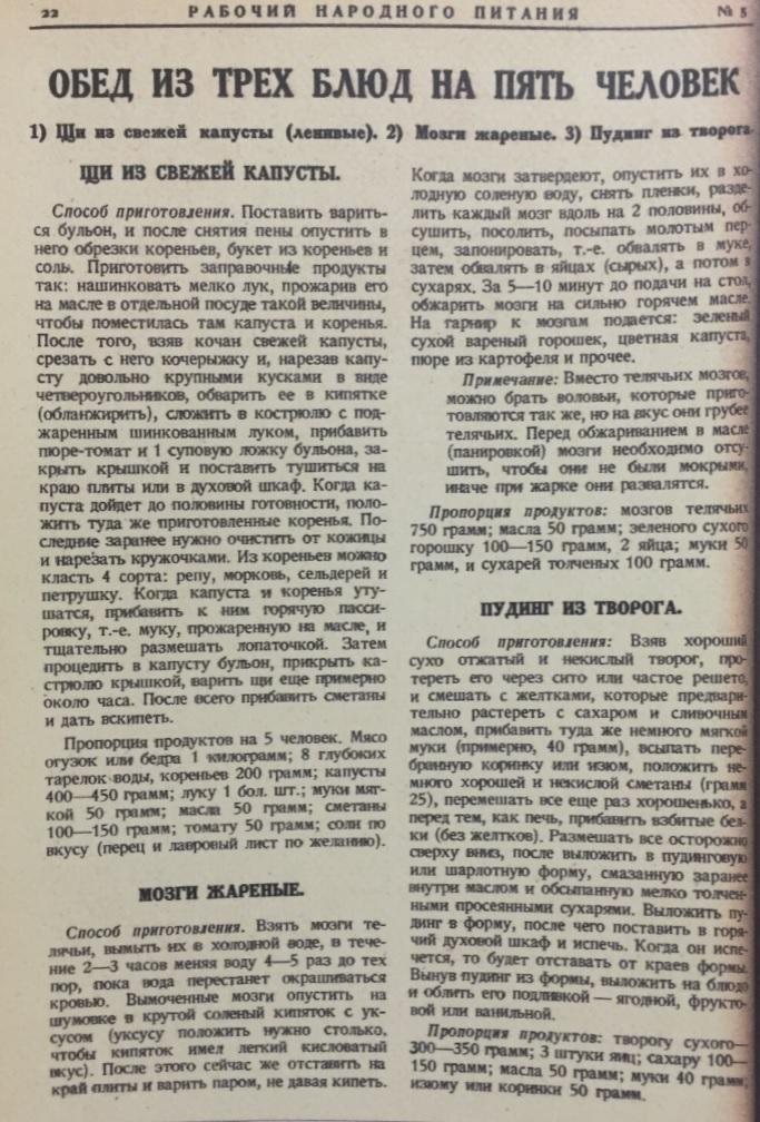 Рабочий народного питания, 1928 год, № 5