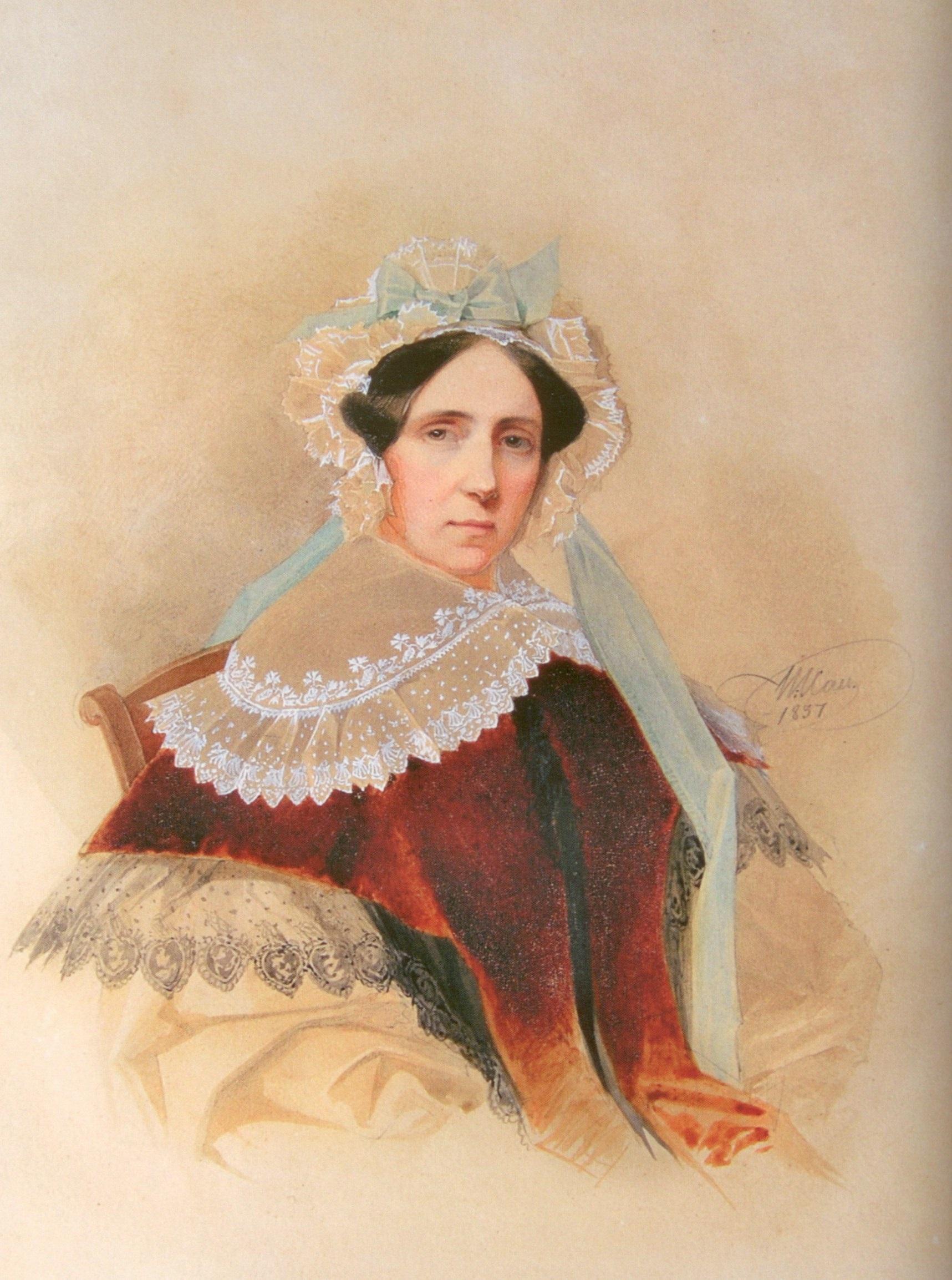 В. И. Гау. Юлия Фёдоровна Баранова (1837)