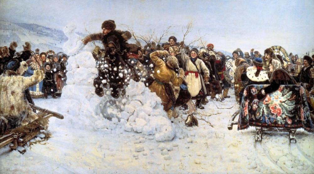 """В.И Суриков """"Взятие снежного города"""""""