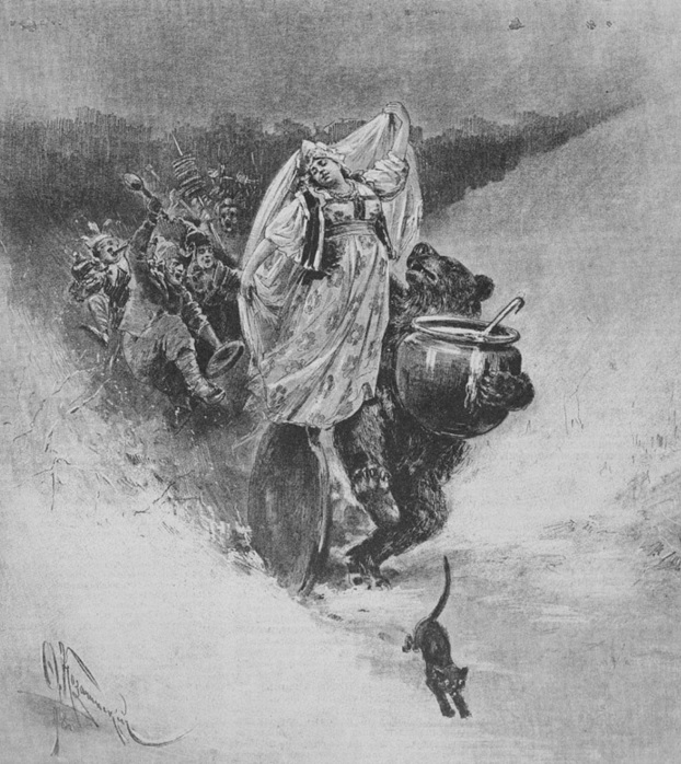 Козачинский Ф.С. Шествие широкой масленицы. Журнал «Всемирная иллюстрация (1895)