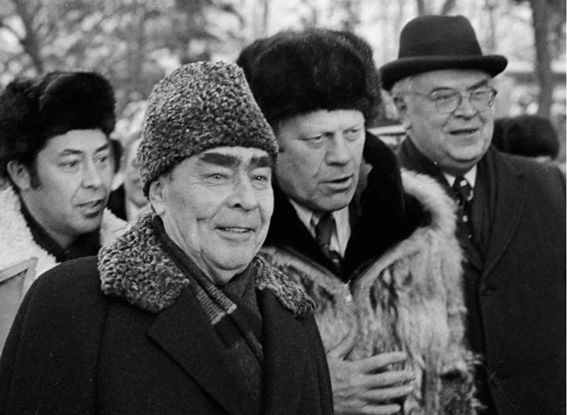 Л.И.Брежнев и Дж.Форд во Владивостоке 23-24 ноября 1974 года