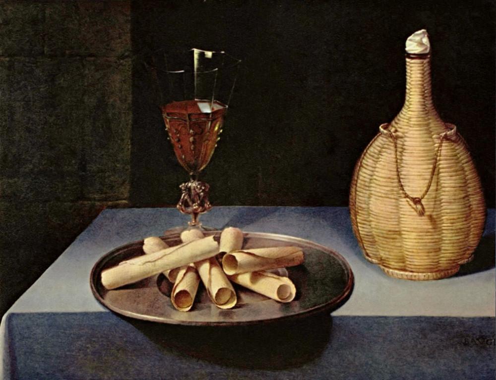 """Lubin Baugin (1612-1663), """"Le dessert de gaufrettes"""", dét., vers 1630-1635. Musée du Louvre (Paris, France)"""