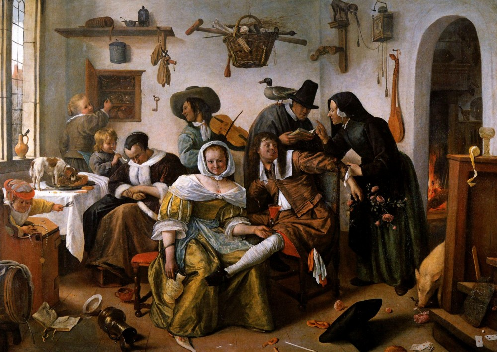 Ян Стен. Кавардак (1663 год). Художественно-исторический музей в Вене