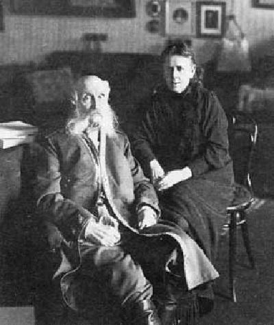 Портрет Александры Викторовны Богданович c мужем Евгением Васильевичем Богдановичем 1914 год
