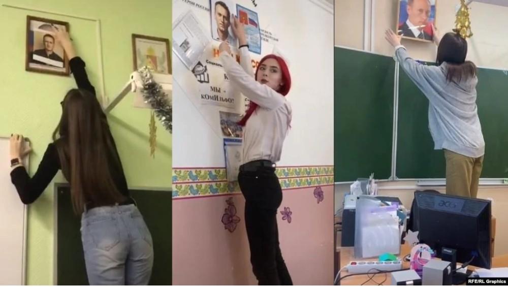 Снимаем портреты Путина - новый тренд в Тик-Токе среди российских школьников